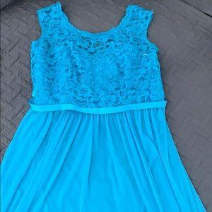 Malibu blue tea length dress